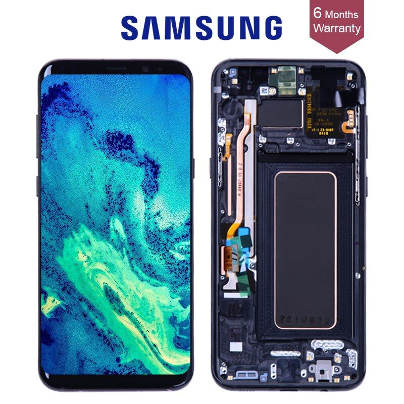 Original AMOLED Display for SAMSUNG Galaxy S8 Screen Replacement LCD Touch Digitizer Assembly S8 Plus LCD G950 G950F G955 G955F