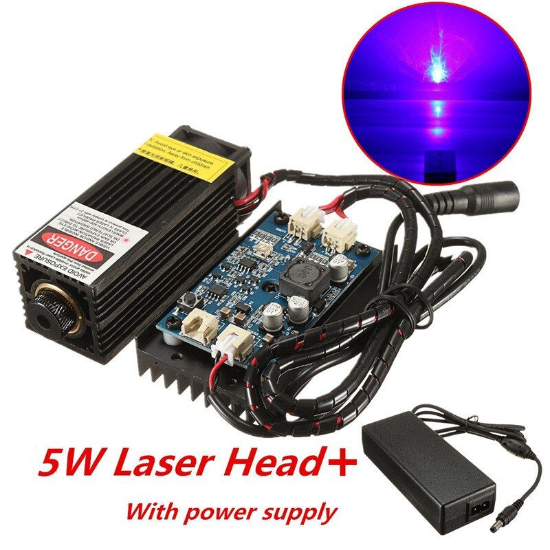 5W/10W/15W/17W Laser Head Engraving Module DIY Wood Marking For Engraver 450nm Blue Light Marking Engraver With TTL Modulation