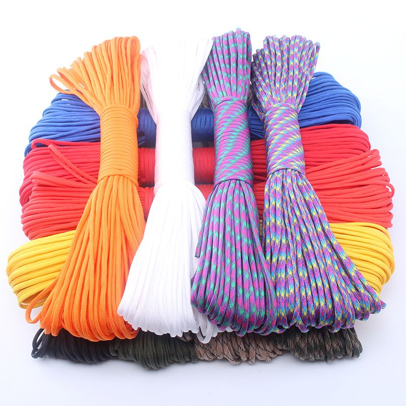 250 Colors 100Meters Paracord 550 Rope Type III 7 Stand Paracord Parachute Cord Outdoor Camping Survival kit Wholesale
