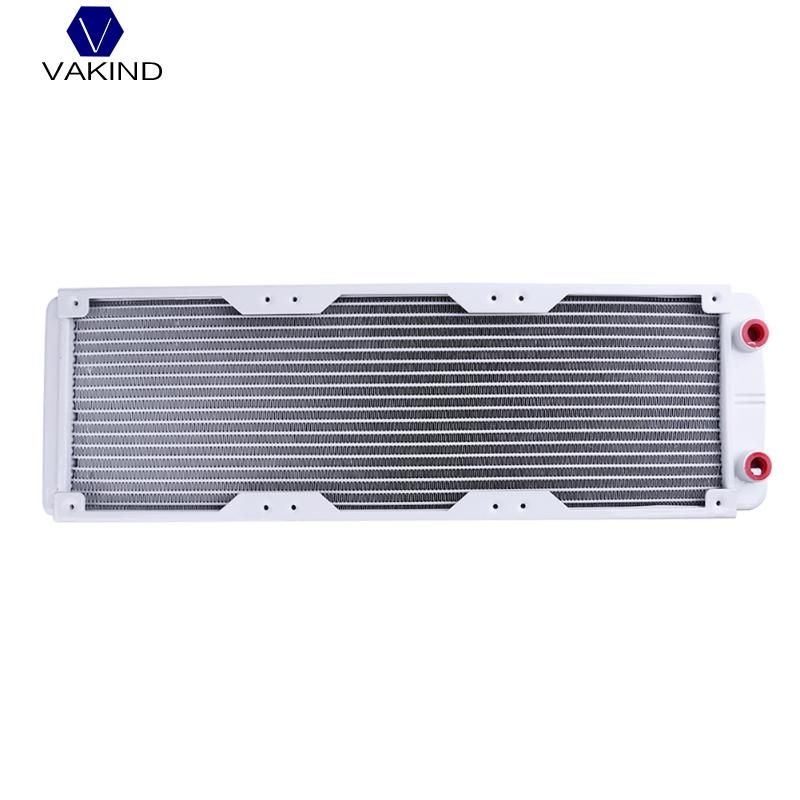 VAKIND White 360mm 18 Tube G1/4 Straight Thread Heat Radiator Exchanger For PC Water Cooling System For PC Computer