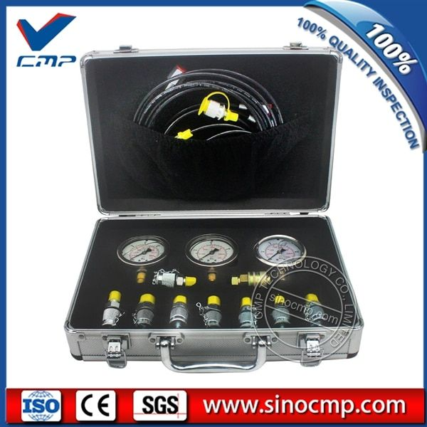 Hydraulic Pressure Test Kit, Hydraulic Tester Gauge Point Coupling For Most Excavator Parts , 2 year warranty