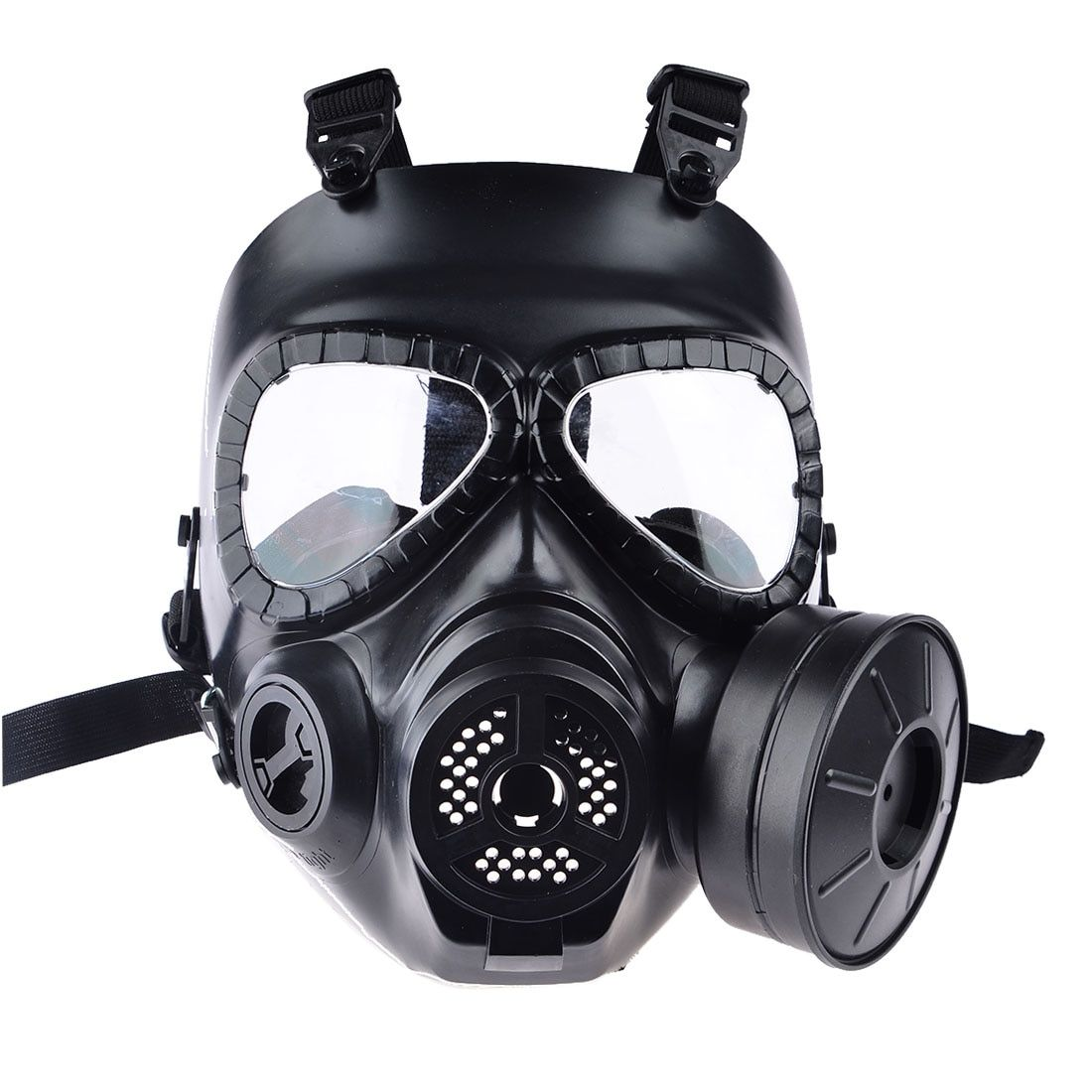 1/2 PCS Hot CS Airsoft Paintball masque à gaz factice avec ventilateur pour Cosplay Protection Halloween mal Antivirus crâne Festival décor