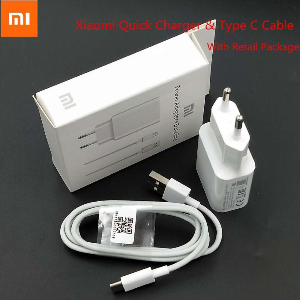 Origine XIAO mi mi 6 Rapide Chargeur adaptateur 12 V 1.5A Charge Rapide USB voyage mur QC 3.0 Pour mi a2 A1 8 Max 3 mi x 2 S Rouge mi Note 7