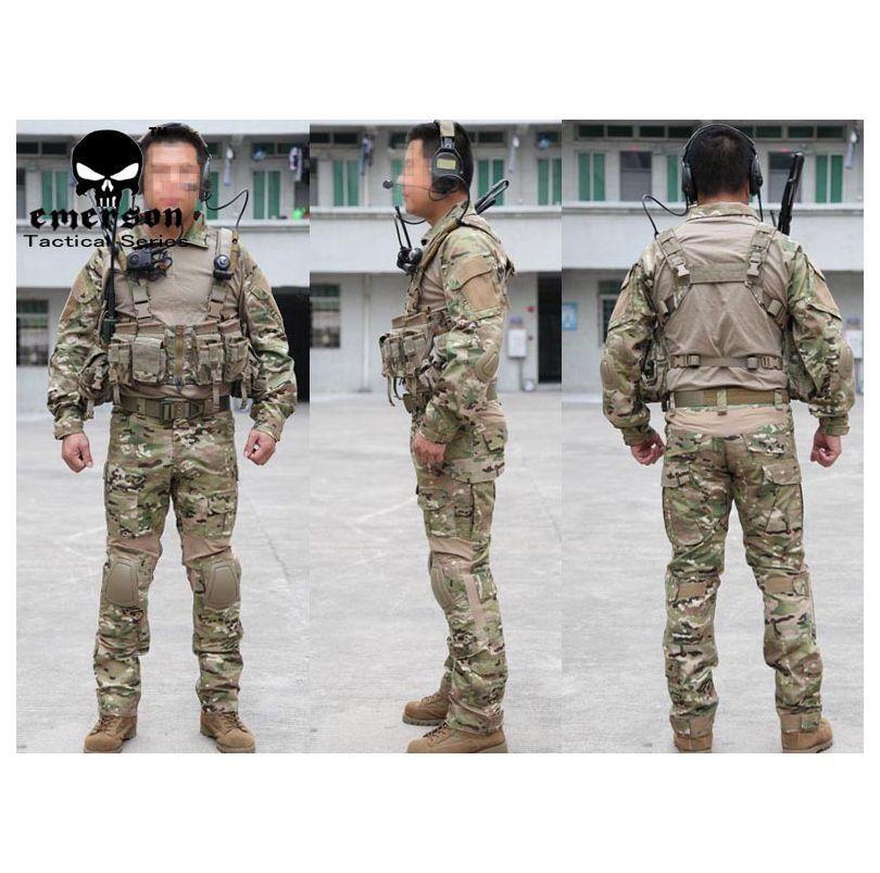USMC A-TACS Camo Tactical Airsoft Uniformen EMERSON-II generation frosch engen kampf camouflage anzüge kleidung set