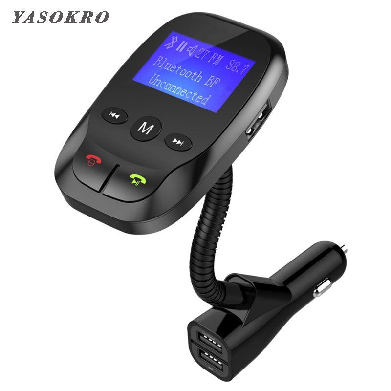 Voiture Fm transmetteur Bluetooth sans fil dans la voiture Radio Kit voiture AUX Bluetooth mains libres et double USB chargeur Support TF carte & U disque