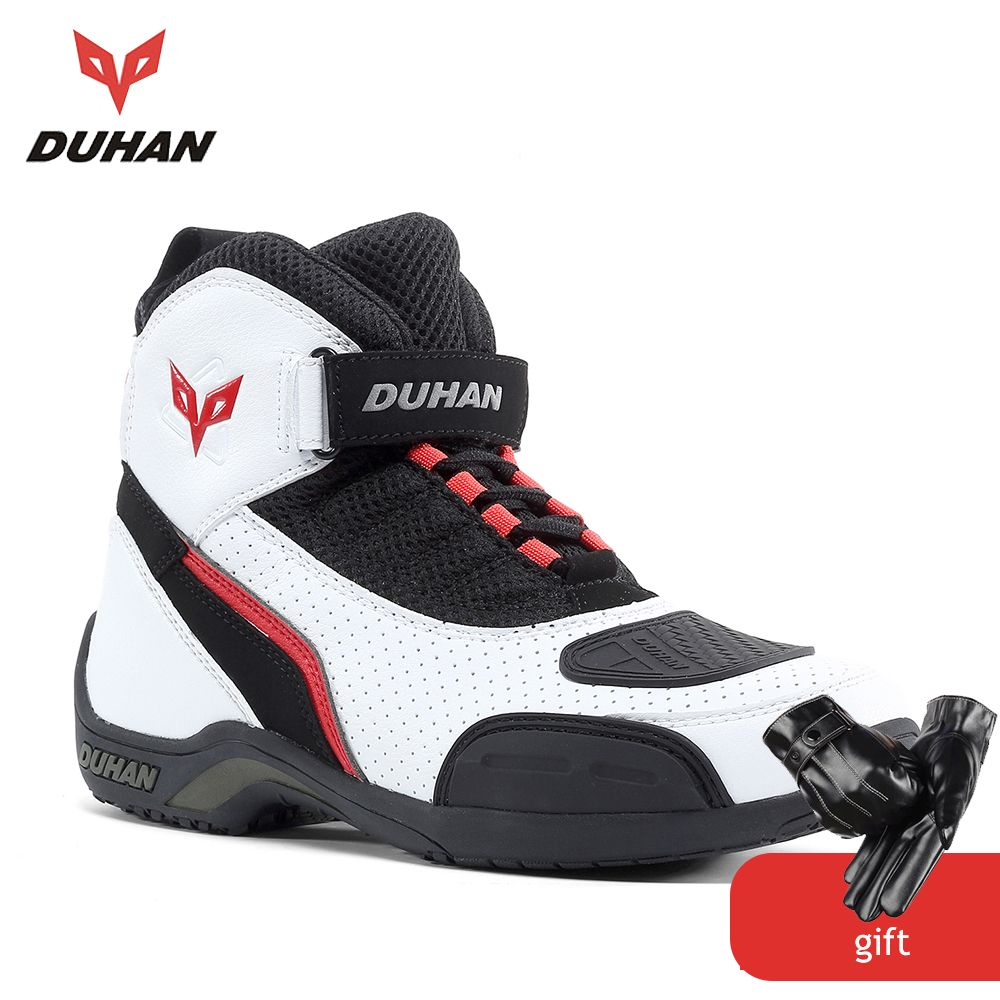 DUHAN Motorcycle Boots Men Mesh Motorcycle Shoes Motocross Off-Road Racingv Riding Boots Moto Botas Biker Motorbike Shoes