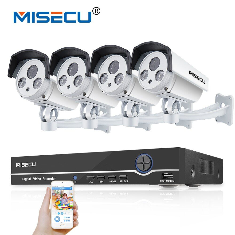 8CH Real 48V HD POE NVR Onvif 1080P HDMI 2.0MP High Power Array IR Led POE NIGHT waterproof P2P cloud Surveillance camera kit