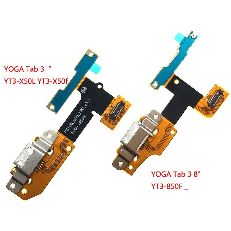 USB Charging Port Plug Flex for Lenovo YOGA Tab 3 YT3-X50L YT3-X50f YT3-X50 YT3-X50m p5100_usb_fpc_v3.0 USB Cable YT3-850F _3 8