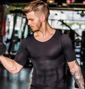 Hommes minceur Shaper Posture gilet hommes Compression T-Shirt musculation graisse brûlure poitrine ventre chemise mince sec rapide sous chemise