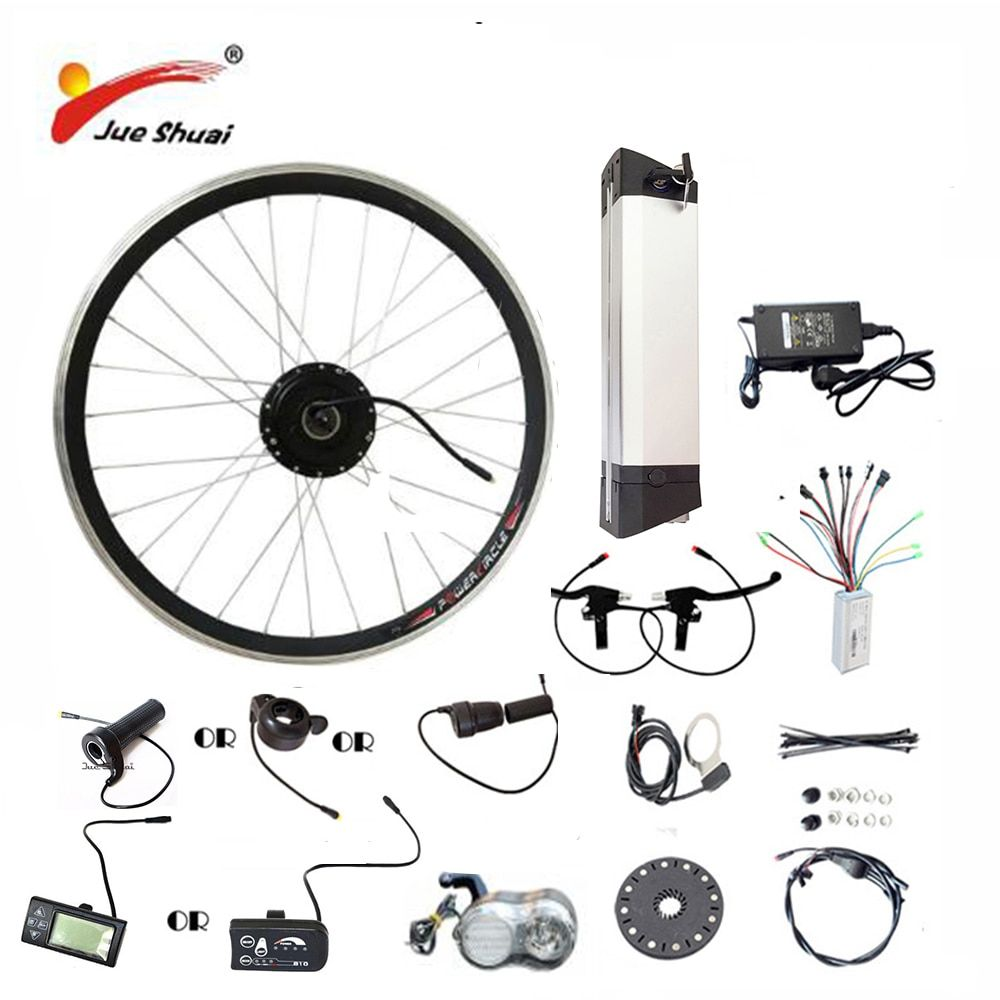JS Hot Sale 36V 48V Electric Bike Kit Kettle battery 250/350/500W Motor Wheel LED LCD Ebike e bike Electric Bike Conversion Kit