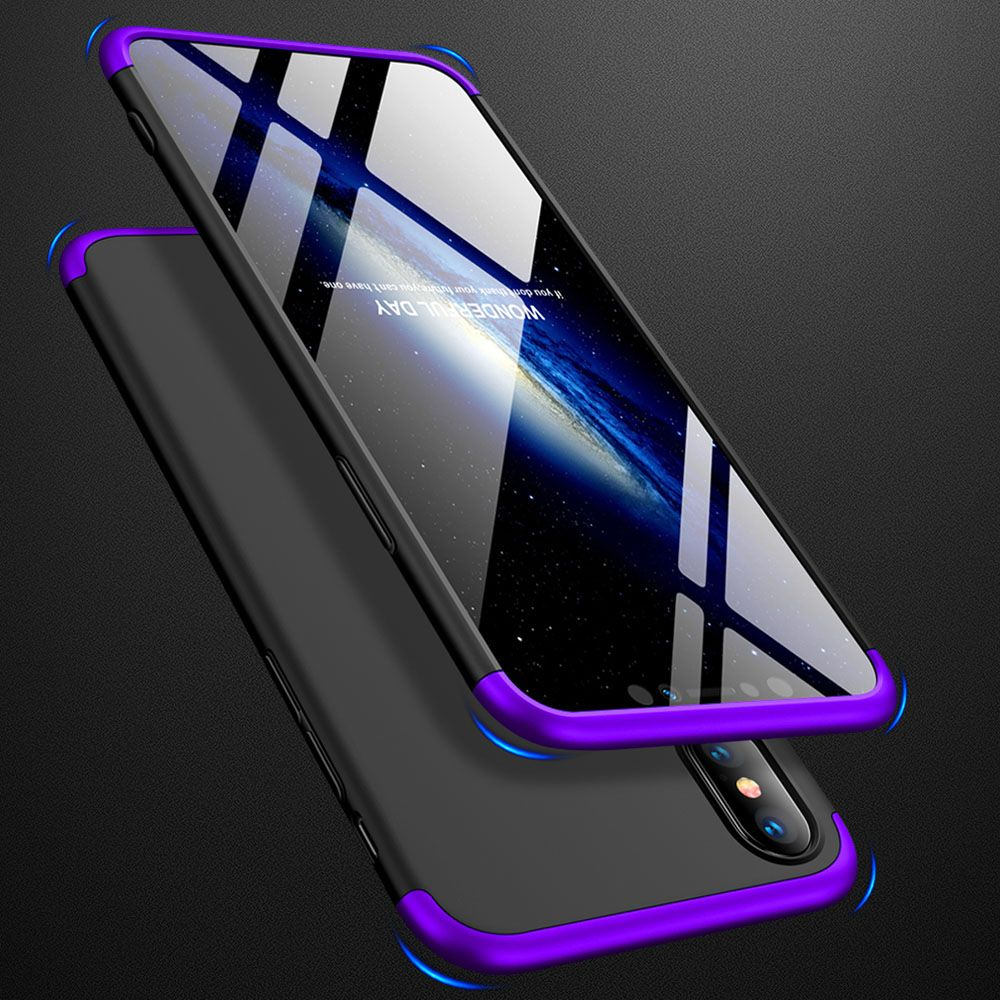 3in1 Full Coverage Protective Armor Case + Tempered Glass Screen Protector Anti Shock Hard Cover For iPhone 7 8 Plus X XR XS Max