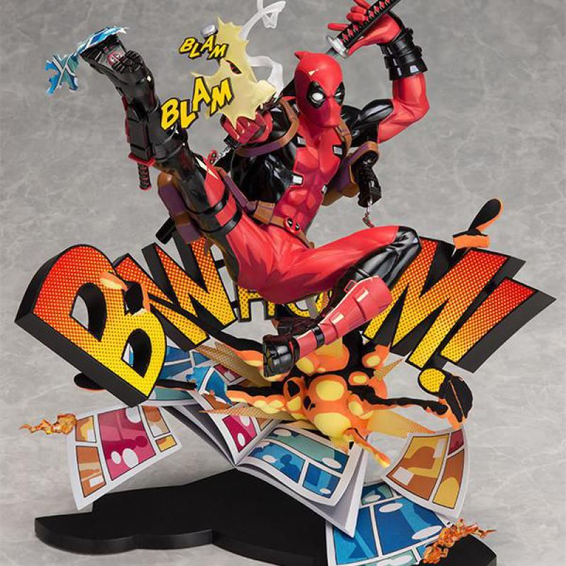Two Dimensions Super Heros Deadpool Yamaguchi Style Joint X-men Anime Action Toy Figures Pvc Model Collection Original Box