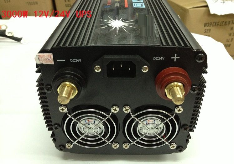 3000W 6000W(surge power) 12V DC to 220V AC / 24V DC to 220V AC UPS Power Inverter with Charger