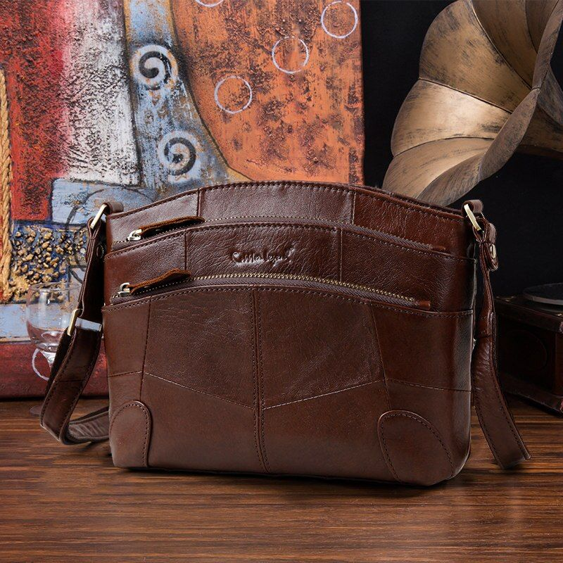 Cobbler Legend Multi Pockets <font><b>Vintage</b></font> Genuine Leather Bag Female Small Women Handbags Bags For Women 2018 Shoulder Crossbody Bag