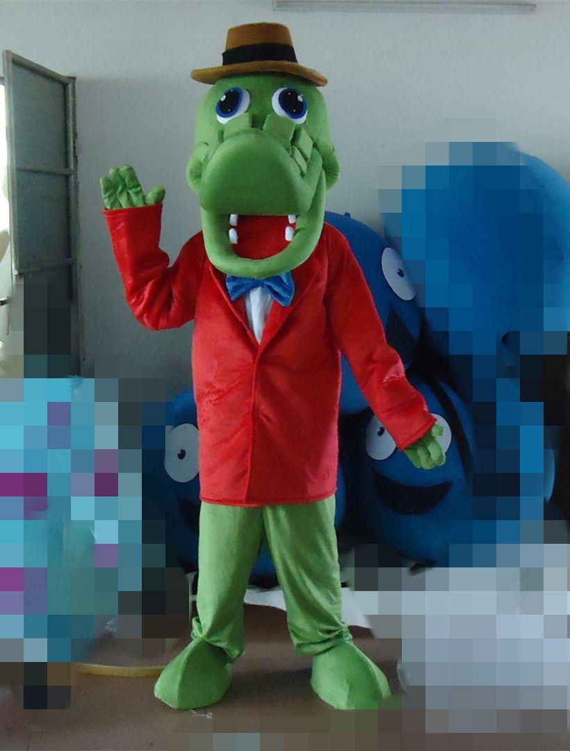 Heiße Verkäufe Krokodil Maskottchen Kostüm, Alligator Maskottchen Kostüm Freies Verschiffen