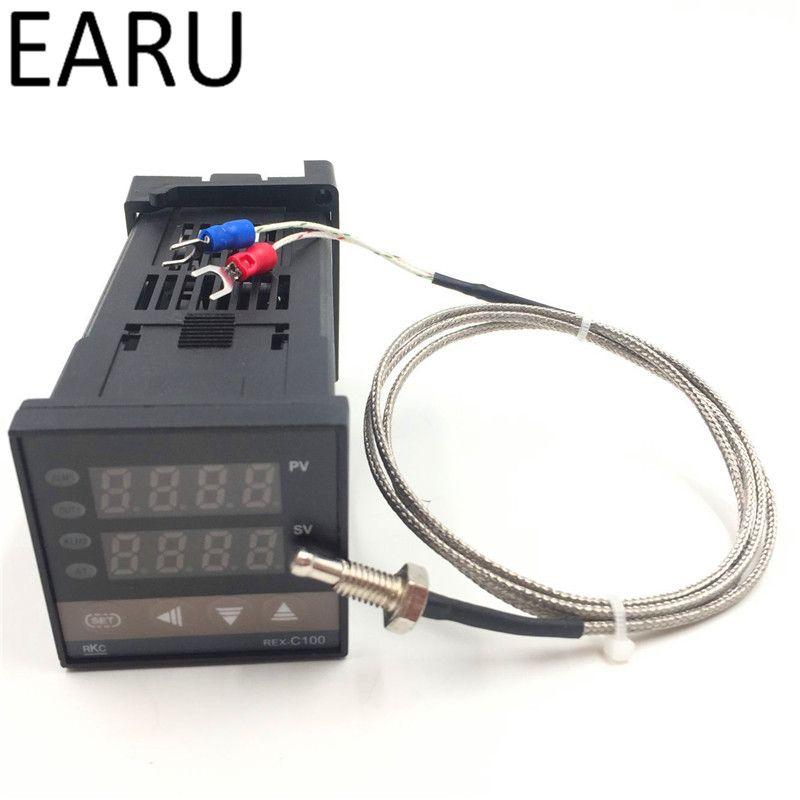 Dual Digital RKC Pid-temperaturregler REX-C100 Universaleingang SSR Relaisausgang + M6 Sonde 1 mt kabel K typethermocouple heißer