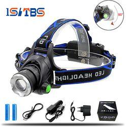 Led faro 6000LM Cree XML-L2 XM-L T6 Zoomable impermeable linterna cabeza lámpara pesca caza Luz