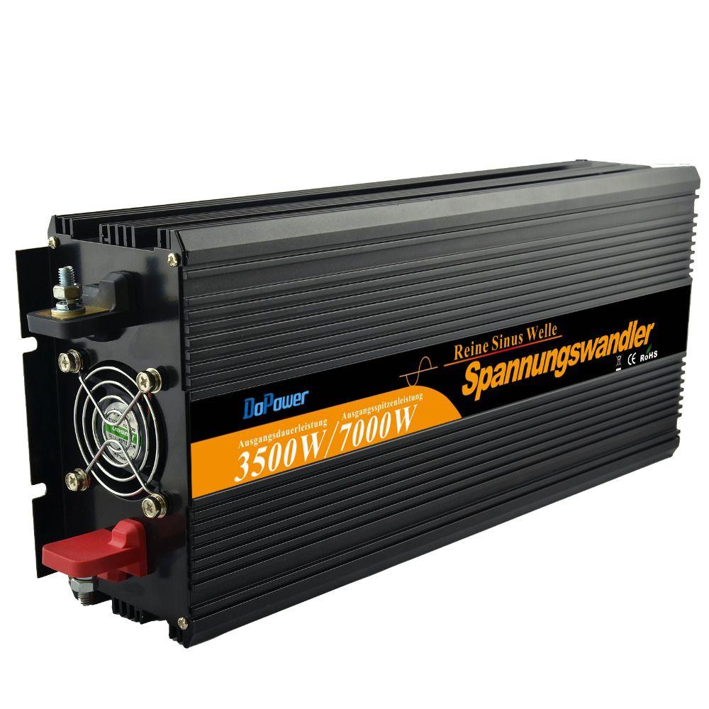 Top qualität 3500 Watt (7000 Wpeak) wechselrichter DC 12 V AC 220 V 230 240 V reine sinuswelle netzteil für haus