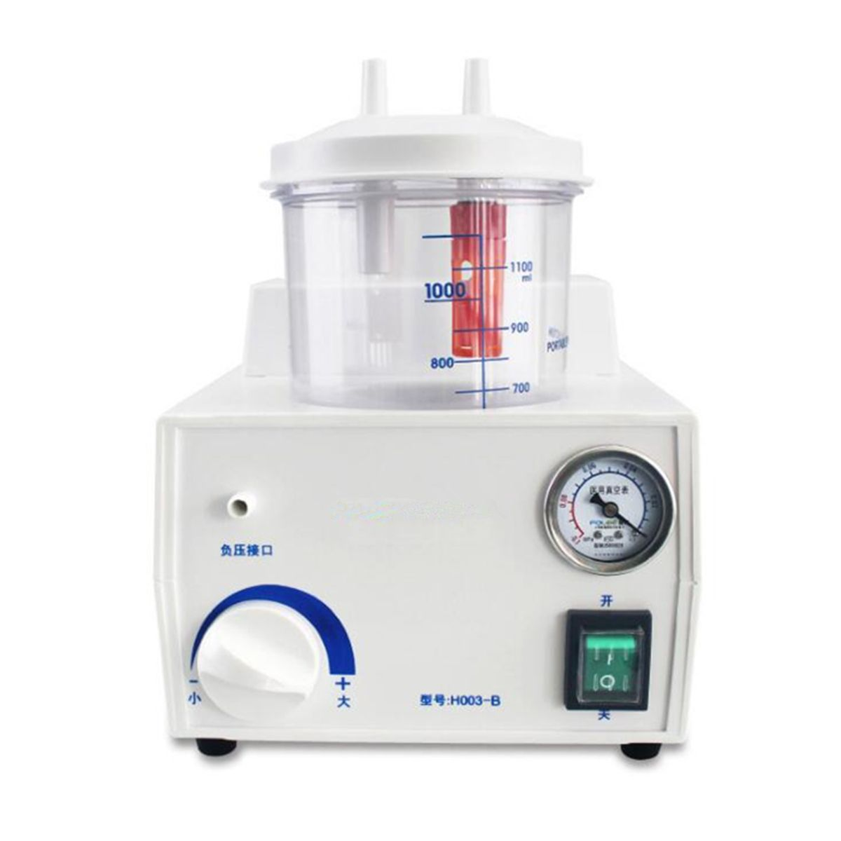 Portable Dental Vacuum Phlegm Suction Unit Piston Pump Electric Medical Emergency Sputum Aspirator Machine Equipment 1000mL