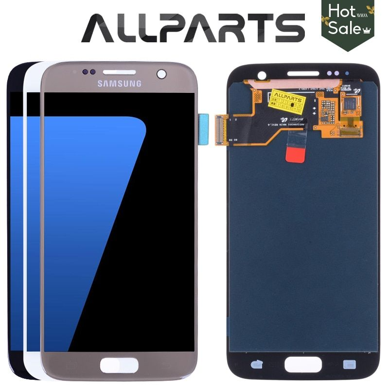 Original 5.1'' Super AMOLED Screen for SAMSUNG Galaxy S7 LCD Display G930 G930F SM-G930 Touch Screen Digitizer Replacement Parts