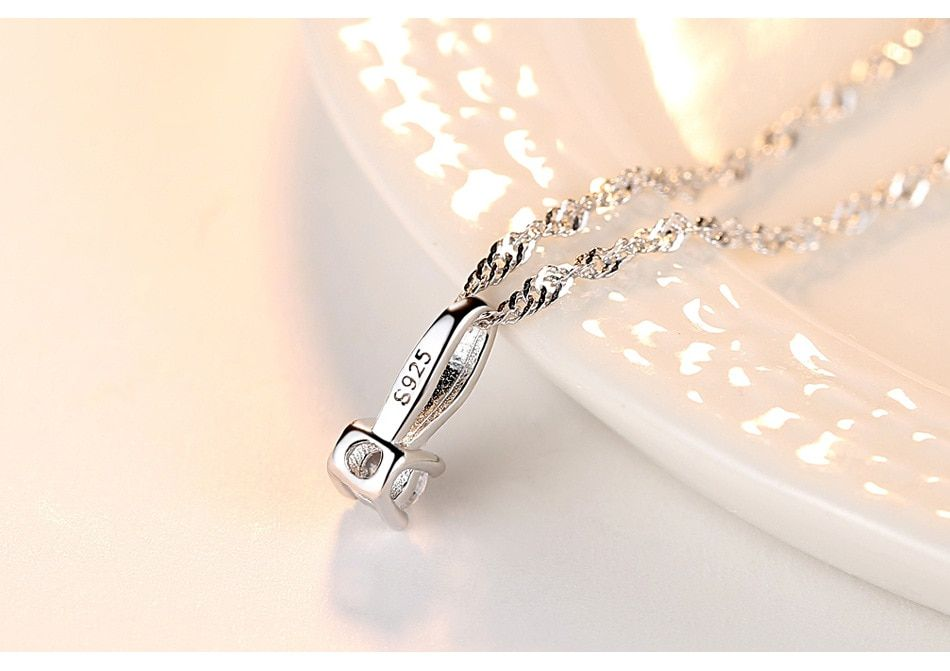 S925 sterling silver necklace water wave chain wild melon button pendant simple fashion accessories