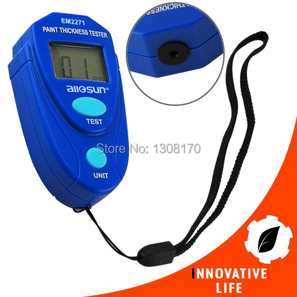 Digital Mini Car Painting Thickness Tester Paint Thickness Meter Coating Thickness Gauge 0~2.0mm Epoxy Enamel Plastic with Pouch