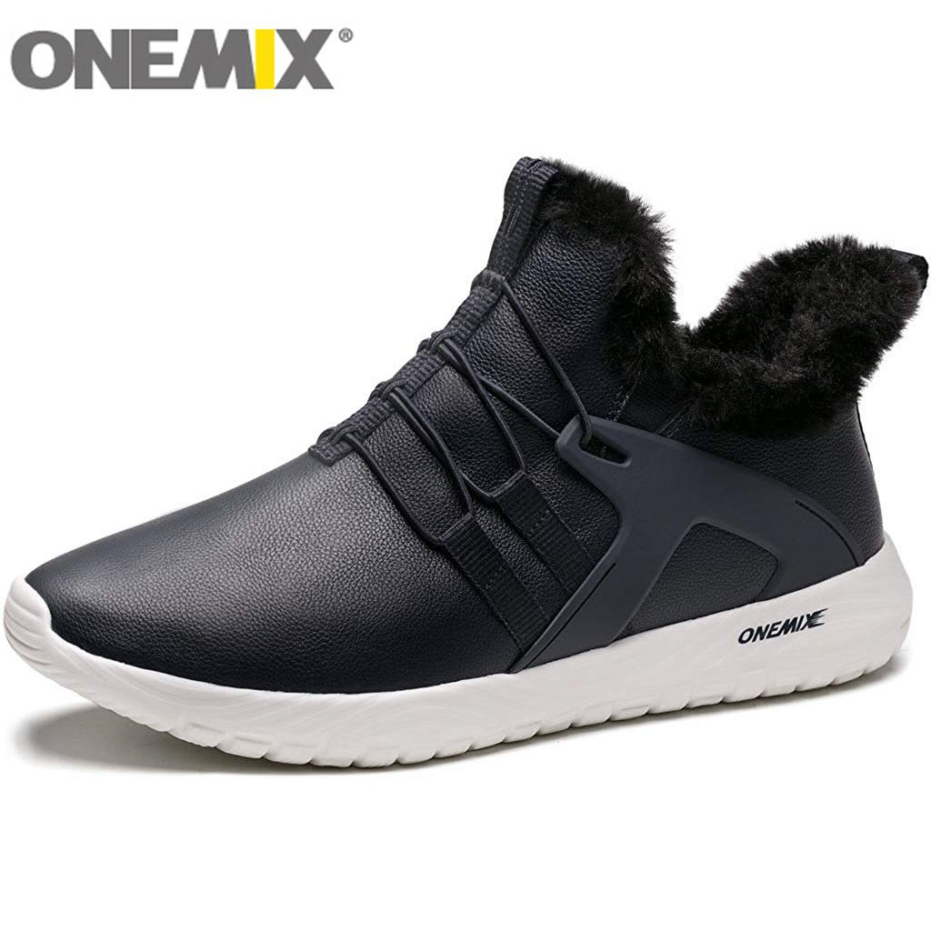 ONEMIX Lightweight Hiking Shoes For Men Outdoor Jogging Gym Fitness Warm Sneakers