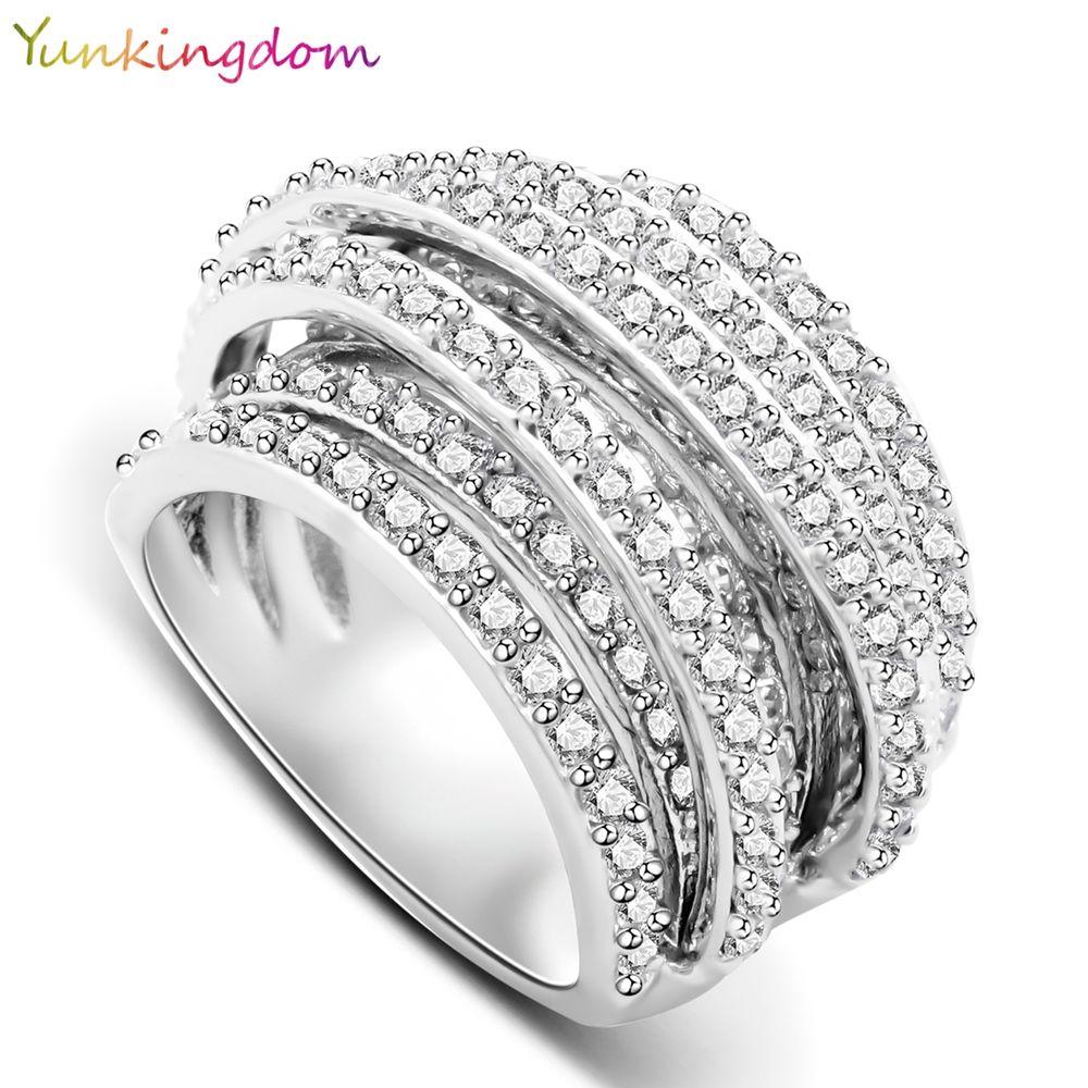 Yunkingdom 2017 nouvelle marque de mode anneaux pour les femmes mode creative bijoux anneaux dames
