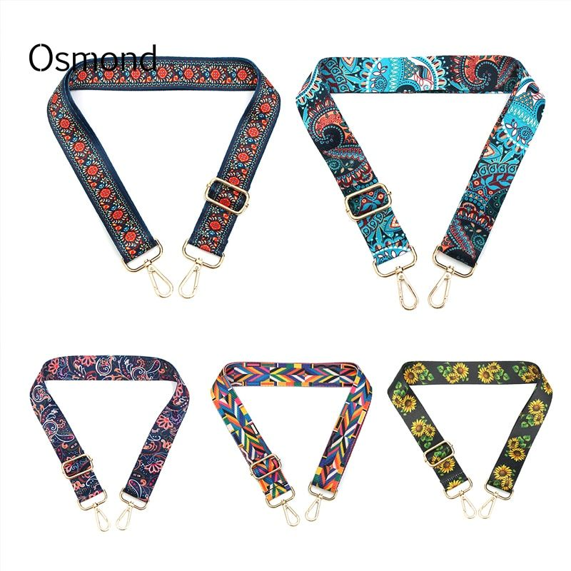 60-120CM Bag Straps Detachable Replacement Shoulder Belts Long Handbags Strap DIY Bag Accessories Colorful Belt Handle For Purse