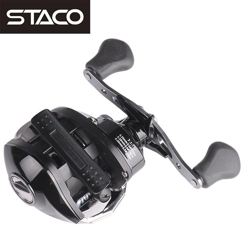 STACO Right/Left Baitcasting Reel 17+1BB 7.1:1 Bait Casting Fishing Reel Magnetic <font><b>Brake</b></font> One Way System High Speed Fishing Reel