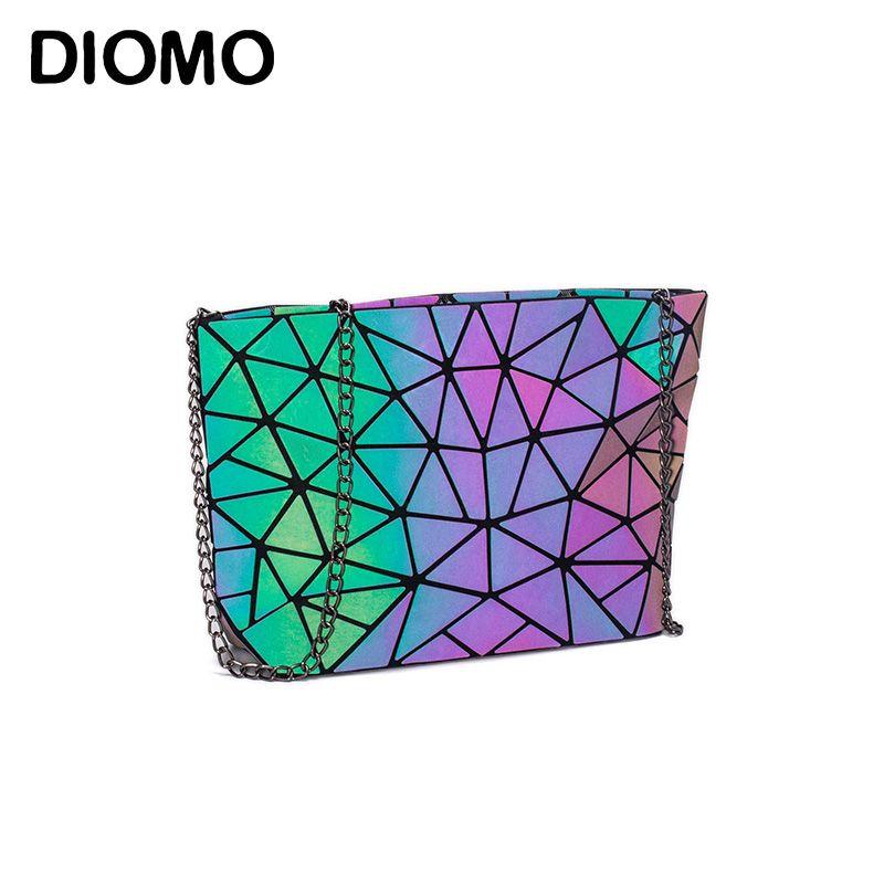 DIOMO Messenger Bag Women's Chain Bag 2019 Fashion Luminous Geometric Sling Bag Sac Femme Shoulder Strap Female Bolsas Feminina