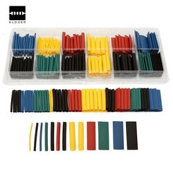 280pcs 8 Sizes Multi Color Polyolefin 2:1 Heat Shrink Tubing Tube Sleeving Tube Assortment Sleeving Wrap Wire Kit tubes Kits