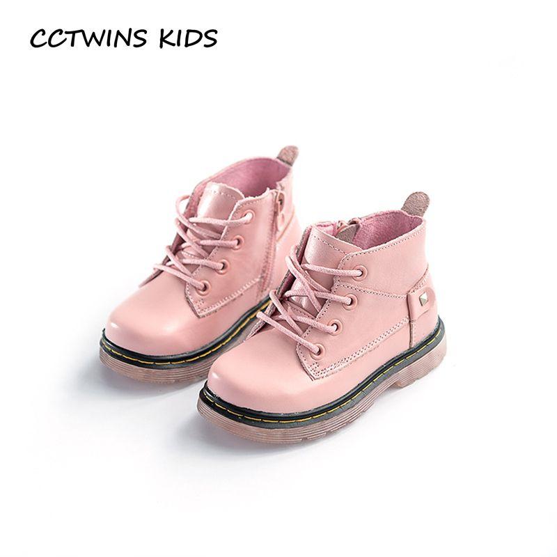 Cctwins дети 2017 Для мальчиков ясельного возраста для маленьких девочек черный Мартинсы детская модная детская Марка all-матч розовый Пояса из на...