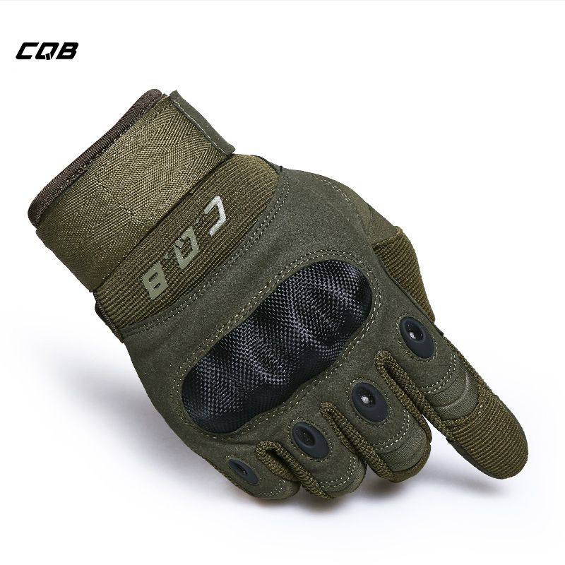 CQB Outdoor Sports Tactical Cycling Gloves Army Gloves Luvas <font><b>Motorcycle</b></font> Gloves for Hiking Camping Men's Airsoft Gloves