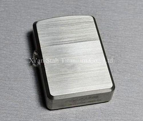 Titane TC4 armure lourde huile étui à briquet/coque/couverture 1.8mm d'épaisseur Ti matériau solide Durable charnière Satin main brunissage 75g