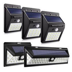 12/16/20/24/54 LED energía solar PIR sensor de movimiento de luz al aire libre impermeable energía calle ahorro jardín seguridad lámpara