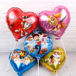 6 piezas patrulla globos autorizado 18 pulgadas patrulla cumpleaños fiesta decoraciones niños juguetes persecución Marshall globo de helio