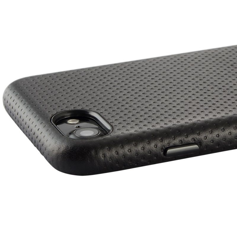 Solque Réel Véritable Mince Couverture En Cuir Cas Pour iPhone 7 8 Plus x 10 De Luxe Respiration Enveloppé Peau Mince Protection téléphone Cas