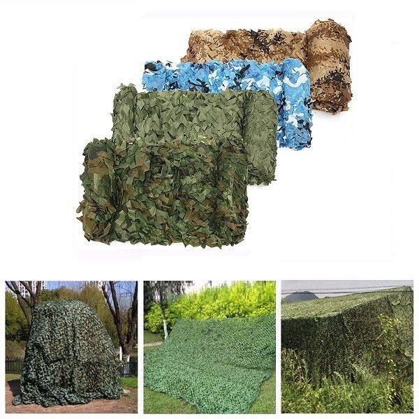 4m*2m Hunting Military Camouflage Net Woodland Army Camo netting Camping Sun ShelterTent Shade sun <font><b>shelter</b></font>