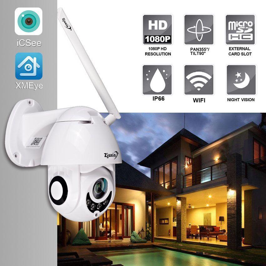 Zjuxin IP Camera WiFi 2MP 1080P Wireless PTZ Speed Dome CCTV IR Onvif Camera Outdoor Security Surveillance ipCam Camara exterior