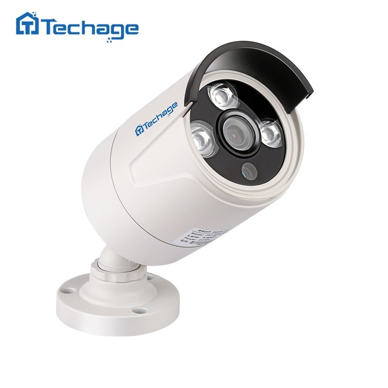 Techage HD 720P 1080P 2.0MP Security POE IP Camera 3PCS Array LED Waterproof Outdoor P2P Onvif Surveillance CCTV Bullet Camera