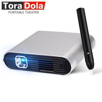TORA DOLA PH20, tactile DLP Projecteur avec Stylet Android 7.0 WIFI, Bluetooth, 5400 mAH Batterie, HDMI, Portable Théâtre, LED TV