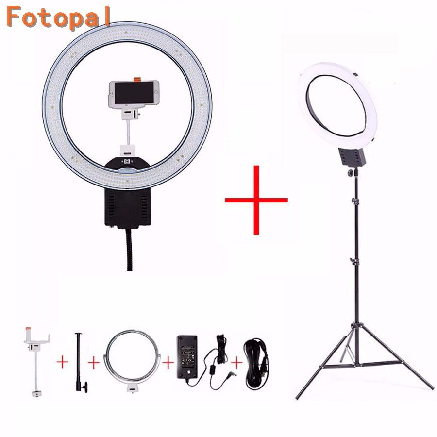 NanGuang CN-R640 LED Camera Photo Studio Phone Video LED Ring Light 5600K Photography Dimmable Annular Lamp Tripods For YouTube