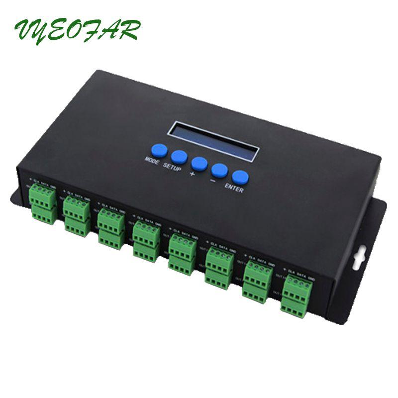 Neue BC-216 DC-24V 16 kanäle auf Artnet SPI/DMX Led WS2811 pixel controller 1024 Kanal ausgang; Führte Artnet zu DMX Controller