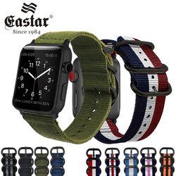 Eastar Hot Vender Nylon Faixa de Relógio Pulseira para Apple Série 3/2/1 Esporte Pulseira de Couro 42mm 38mm Banda Cinta Para iwatch