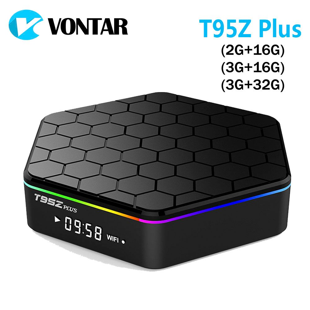 VONTAR T95Z Plus Smart <font><b>Andorid</b></font> TV BOX 7.1 OS Set top box 2GB 16GB 3GB 32GB Amlogic S912 Octa Core 2.4G/5GHz WiFi BT4.0 4K IPTV