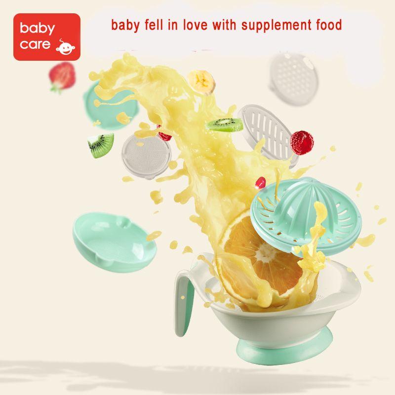 Babycare 8 en 1 bébé nourriture moulins à fruits et conteneur bol de stockage ensemble de meulage manuel plats infantile fabricant d'aliments outil bol d'alimentation