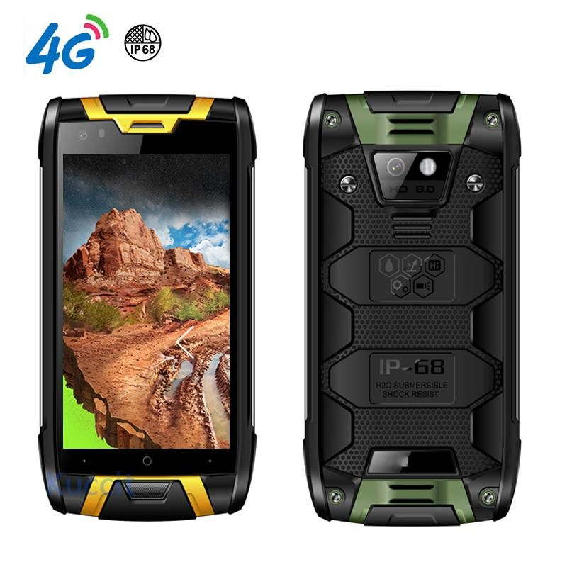 China Kcosit T95 IP68 Rugged Smartphone Android Waterproof Phone 4G LTE Shockproof Mobile Phone 2GB RAM 4.5