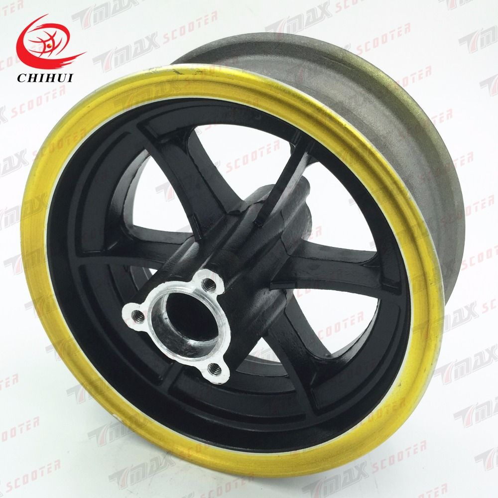 Scooter Wheel Hubs 13*5.00-6 Rear Wheel Rims Aluminium Alloy Wheel Hub for 13*6.5-6 Tubeless Tyre (Scooter Parts & Accessories)