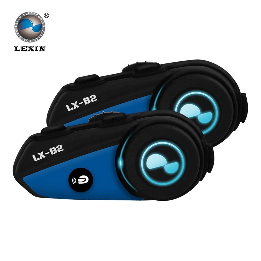 2 STÜCK Lexin-B2 BT Sprech Motorrad Helm Intercom-Headset gleichzeitig paar verschiedene Bluetooth High-fidelity übertragung